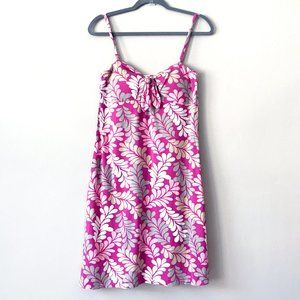 Tommy Bahama Pink Cotton Sundress w/ Built In Bra